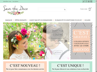Savethedeco, boutique en ligne pour décoration de mariage